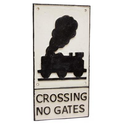 Train Crossing No Gates Sign