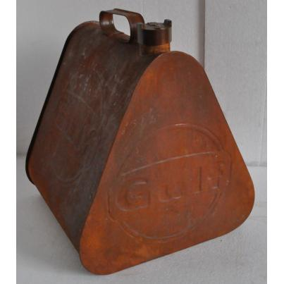 Gulf Triangular Shape Rustic Oil Can