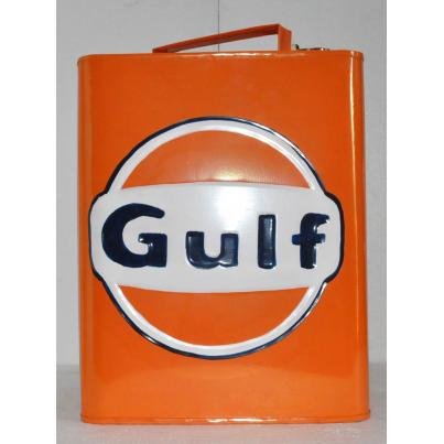 Gulf Oil Can Coloured