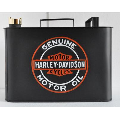 Harley Davidson Oil Can Rectangular Coloured
