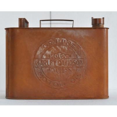 Harley Davidson Oil Can Rectangular Rustic