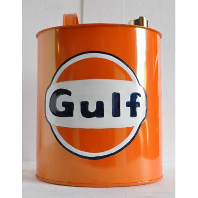 Gulf Oil Can Coloured Oval