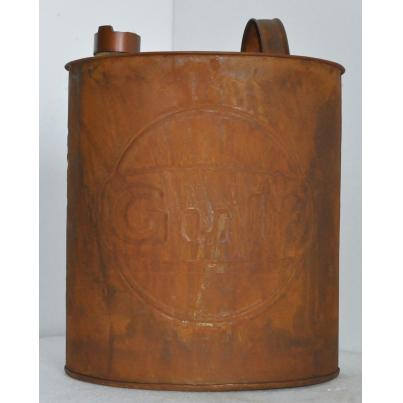 Gulf Oil Can Rustic Oval