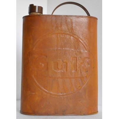 Gulf Oil Can Rustic