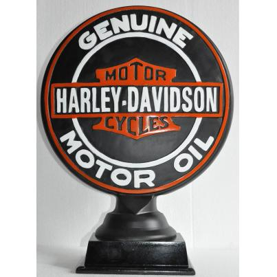 Harley Davidson on Wooden Base