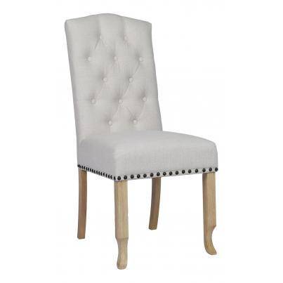 Beige Dining Chair with Studded Detail