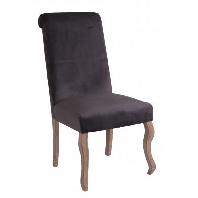 Dark Grey Dining Chair with Knocker