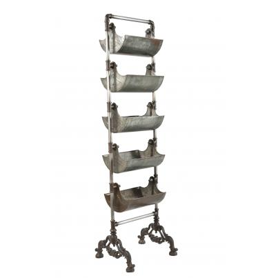 Metal Basket Shelving Unit