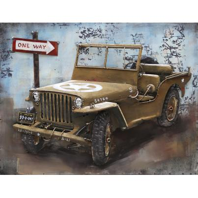 3D Metal Willys Jeep Painting