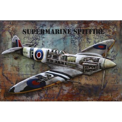 3D Metal Spitfire Painting