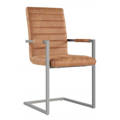 Pack of 2 - Brown Leather Dining Chair