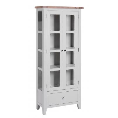 1 Drawer 2 Door Glazed Display Cabinet