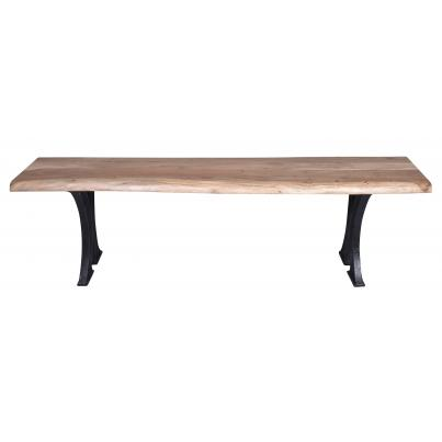 Live-edge Natural Acacia Bench Table- Cast Iron Base 1.6m