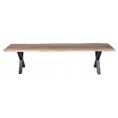 Live-edge Solid Acacia Cross Leg Dining Bench 1.8m