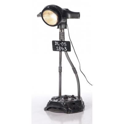 Vintage Scooter Head Light Table Lamp
