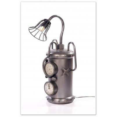 Vintage Cylinder With Meter Table Lamp