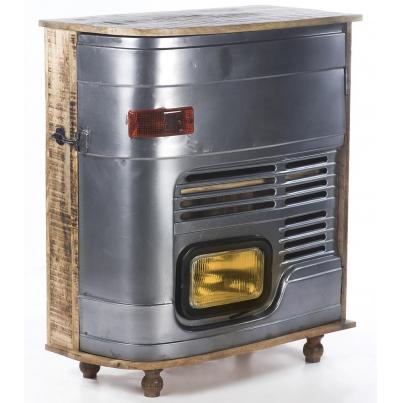 Upcycled Truck Cabinet With Headlamp