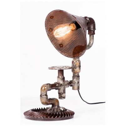 Industrial Iron Table Lamp