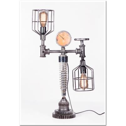 Iron Cage and Meter Table Lamp