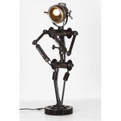 Reclaimed Car Parts Robot Table Lamp