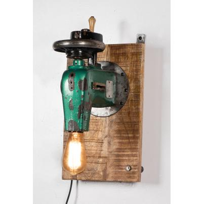Upcycled Vintage Sewing Machine Wall Mounted Lamp