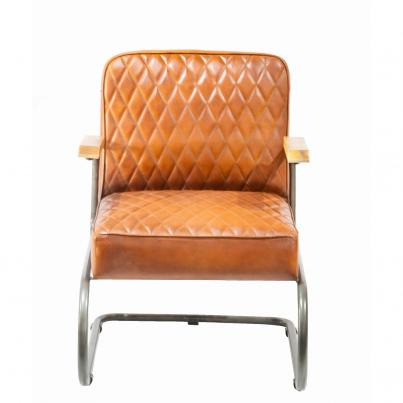 Deep Padded Leather Seat with Metal Frame