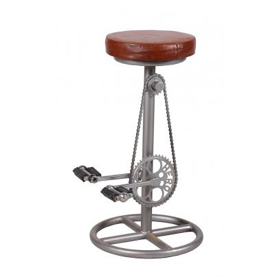 Leather Bicycle Pedal Stool