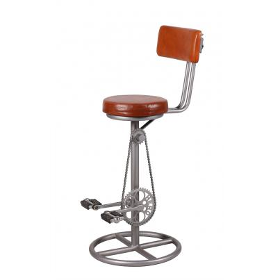 Leather Bicycle Bar Stool with Back
