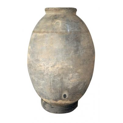 Tall Antique Clay Pot