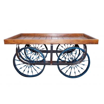 Wooden Display Cart Table
