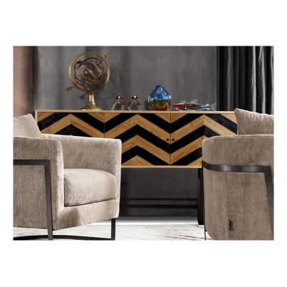 Harlow Black Wave Collection Side Board