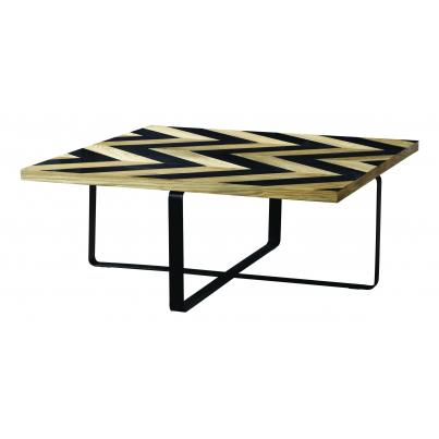 Harlow Black Wave Collection Coffee Table