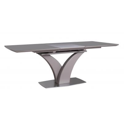 Sanded Grey Glass Extending Dining Table 1.6-2.1m