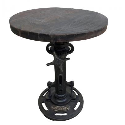 Reclaimed Wood Metal Adjustable Stool