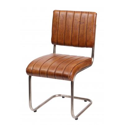 Ribbed Leather Chair