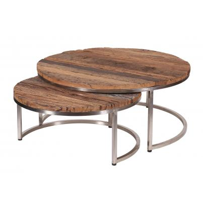 Nest of 2 Round Coffee Tables