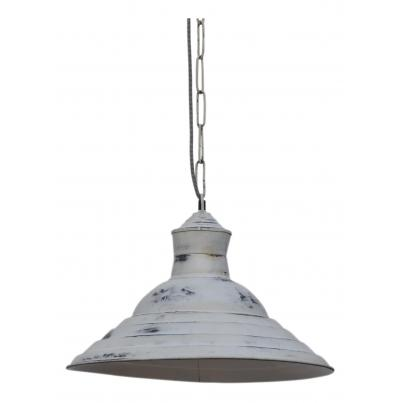 Iron Pendant Cargo Light with Stripe Design
