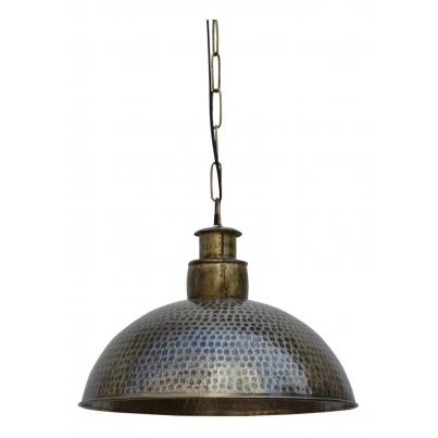 Nickle & Brass Hammered Pendant Cargo Light