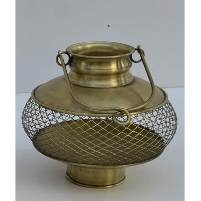Ornate Brass Candle Holder Medium