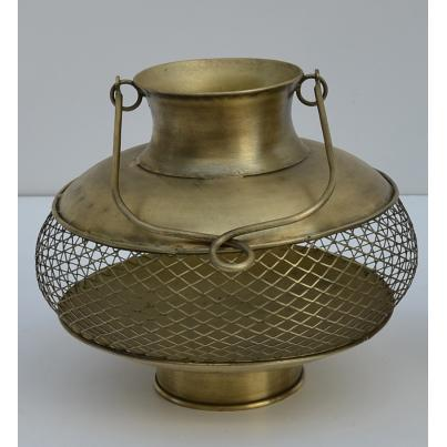 Ornate Brass Candle Holder Large