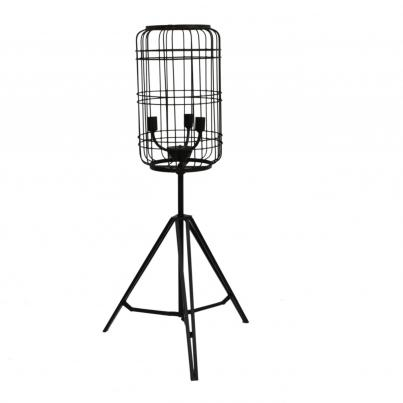 Caged Metal Table Lamp