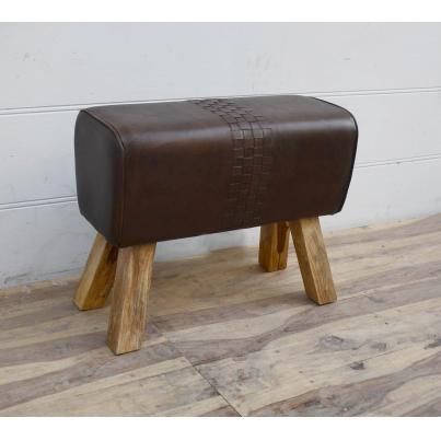 Brown Leather Pommel Horse Stool