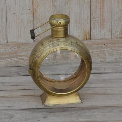 Brass Pillar Candle Lantern