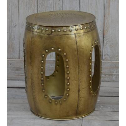 Large Decorative Metal Stool