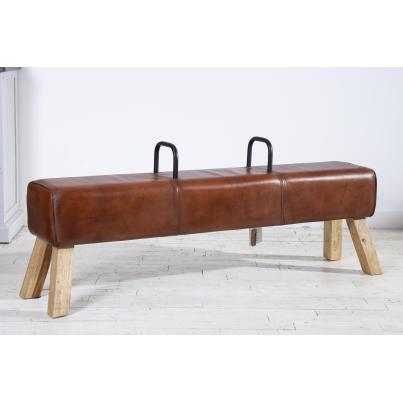 Leather Pommel Horse Bench With Handles
