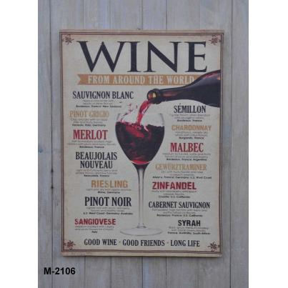 Wine Wall Art Panel