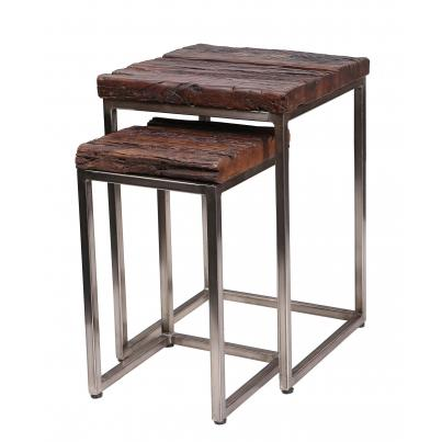 Set of 2 Square Side Tables