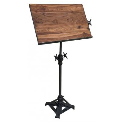Teak Metal Adjustable Draft Table Stand