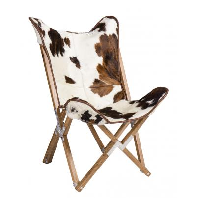 Cow Print Butterly Chair