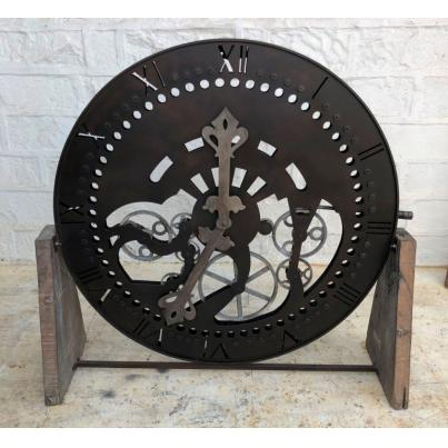 Metal Wood Clock